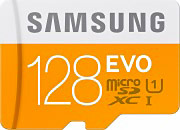 Samsung Scheda di Memoria Micro SD 128GB Classe 10 + Adattatore SD EVO MB-MP128DA