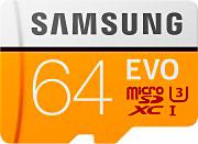 Samsung Scheda Memoria MicroSD XC 64Gb Classe 10 + Adattatore SD - MB-MP64GAEU