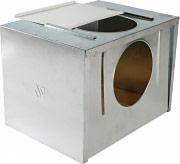 Sandano 35 Nidi per Conigli in lamiera zincata fondo in legno dim- 29x40x29 cm
