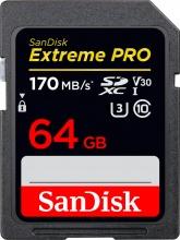 Sandisk 3100826 Scheda di Memoria 64 Gb SDXC Classe 10 Velocita 170 Mbs Extreme