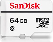 Sandisk SDSDQQ-064G-G46A micro SD 64 GB Classe10 High Endurance Video Monitoring