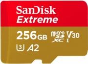 Sandisk SDSQXA1-256G-GN6MA Scheda di memoria Extreme A2-U3-V30 256 GB MicroSD