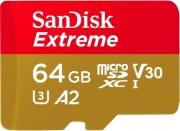 Sandisk SDSQXA2-06 Scheda Memoria Micro SD Ultra A2 64 Gb+Adattatore SD 4G-GN6MA