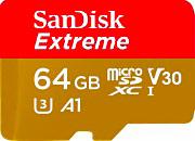 Sandisk Scheda di Memoria Micro SD Ultra A1 64 Gb+Adattatore SD SDSQXAF064GGN6MA