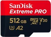 Sandisk SDSQXCZ-512G-GN6MA Scheda di memoria Extreme Pro 512 GB MicroSD