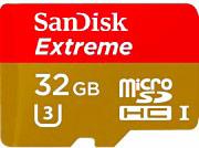 Sandisk Micro SD 32 Gb Classe 10 90 Mbs + Adattatore SQXVF032GB Extreme