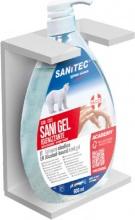 Sanitec 306-S Porta Dispenser Sapone da Parete Staffa Muro Bianco