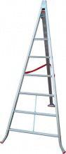 Santilli SCAS1000C065 Scala Alluminio Triangolare 6 gradini H mt. 2,30