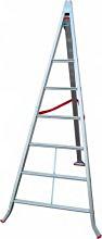 Santilli SCAS1000C085 Scala Alluminio Triangolare 8 gradini H mt. 2,90