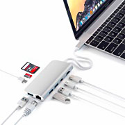 Satechi ST-TCMM8PAS Hub USB Adattatore Multiport per Apple Mac Porte legacy