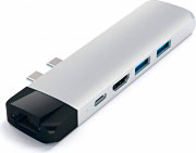 Satechi ST-TCPHES Hub USB Adattatore Multiport per Apple Mac con Ethernet