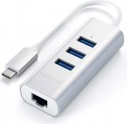 Satechi ST-TC2N1USB31AM Adattatore Multiporta 3 x Porte USB 3.0 + Lan Rj 45