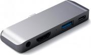 Satechi ST-TCMPHM Adattatore Multiporta USB  USB Type-c  HDMI  Jack 3.5 mm