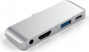 Satechi ST-TCMPHS Adattatore Multiporta USB  USB Type-c  HDMI  Jack 3.5 mm