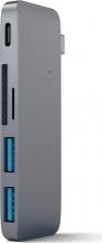 Satechi ST-TCUPM Multiporta 2 x Porte USB 3.0 + 1 x Type-c + Card reader SD
