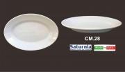 Saturnia T01001028 Vassoio Ovale Tivoli cm 28 Porcellana Bianco