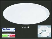 Saturnia T04001013 Piatto Pizza Bianco Napoli cm 35