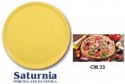 Saturnia T04Y28018 Piatto Pizza Giallo Napoli cm 33