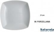 Saturnia T20001003 Piatto Tokio Fondo cm 21 Bianco