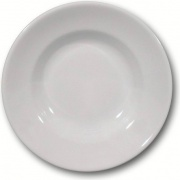 Saturnia Tivoli Fondo Piatto fondo 23.5 cm Porcellana Bianco