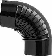 Save Fumisteria NO1503 Gomito Curva 90° Tubo Scarico Fumi per Stufe 15 cm Nero