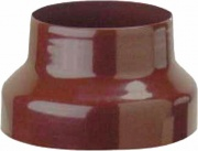 Save Fumisteria EM12F8M Riduzione Canna Fumaria in Acciaio smaltata colore Marrone 12 8