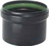 """Save Fumisteria PN819C Tappo per tubi a """"T"""" per Pellet  Ø 8 cm colore nero opaco"""