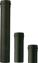 Save Fumisteria PNL1002 Tubo stufe a pellet in Acciaio Porcellanato h 25 cm Ø 10 cm Nero