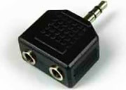 Sbs Adattatore Sdoppiatore Audio MaschioFemmina Jack3,52 x 3,5 mm CO9A10300