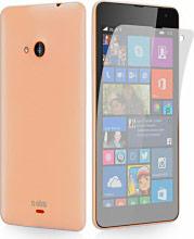 Sbs Custodia Cover Aero in TPU Nokia Lumia 535 + 1 Pellicola TEAEROLU535T
