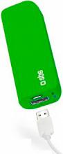 Sbs TEBB30001UG Caricabatteria Portatile Smartphone 3000 Mah USB colore Verde