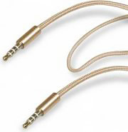Sbs Cavo audio stereo Jack 3.5 mm Maschio Maschio L 1 mt Oro TECABLE35GOLD