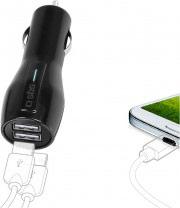 Sbs TECAR2USB31A Caricabatterie da Auto Universale per Cellulare 2 USB 3100 mAh