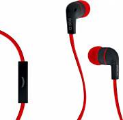 Sbs TEFLAT2INEARR Cuffie Stereo Auricolari con Filo Microfono Jack 3.5 mm Rosso