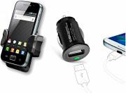 Sbs Kit Caricabatterie Auto Smartphone + Supporto Universale Auto TEKIT21HC