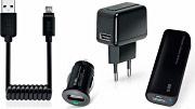 Sbs Kit Caricabatterie Smartphone Auto Rete Portatile Cavo MicroUSB TEKIT41