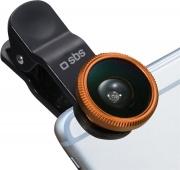 Sbs TEKITLENS31 Obiettivo Smartphone a Clip macro, Fish-eye e Wide