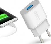 Sbs TETR1USB2AWFAST Caricabatterie USB 2.1 A  Presa EU Universale 2.100 mAh