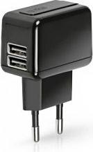 Sbs Caricabatterie da rete Smartphone Tablet 2 USB 1000 mAh TETRAV2USB1A