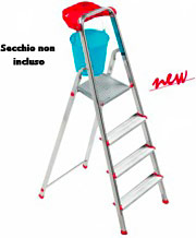 SCAB Scala alluminio 4 gradini Domestica h 145 cm 804