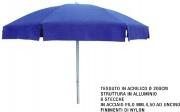 Sessa Ombrellificio MEI219737 Ombrellone Sole Acrilico 2008 Blu Tinta Unita