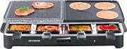 Severin RG 2341 Raclette Elettrica Barbecue da Tavolo 2 Piastre + 8 padellini
