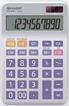 Sharp Calcolatrice 10 cifre Alimentazione batteria e solare EL334ENB