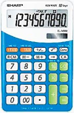 Sharp ELM332BBL Calcolatrice da Tavolo 10 Cifre. col. Blu EL332B