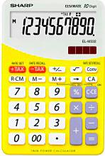 Sharp Calcolatriceda Tavolo 10 Cifre. col. Giallo Elm332BGialla