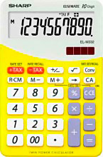 Sharp Calcolatrice El M332 Byl Gialla ELM332BYL