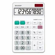 Sharp Calcolatrice da Tavolo display 10 cifre colore Bianco EL-331WB