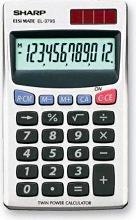 Sharp Calcolatrice da tavolo solare  batteria EL 379SB