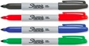Sharpie S0810970 Fine Point Blu Verde Rosso Punta sottile 4 pz