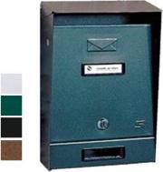 Silmec 10-201.84 Cassetta Lettere in Acciaio Verniciato Tetto Ap Nera 10-201
